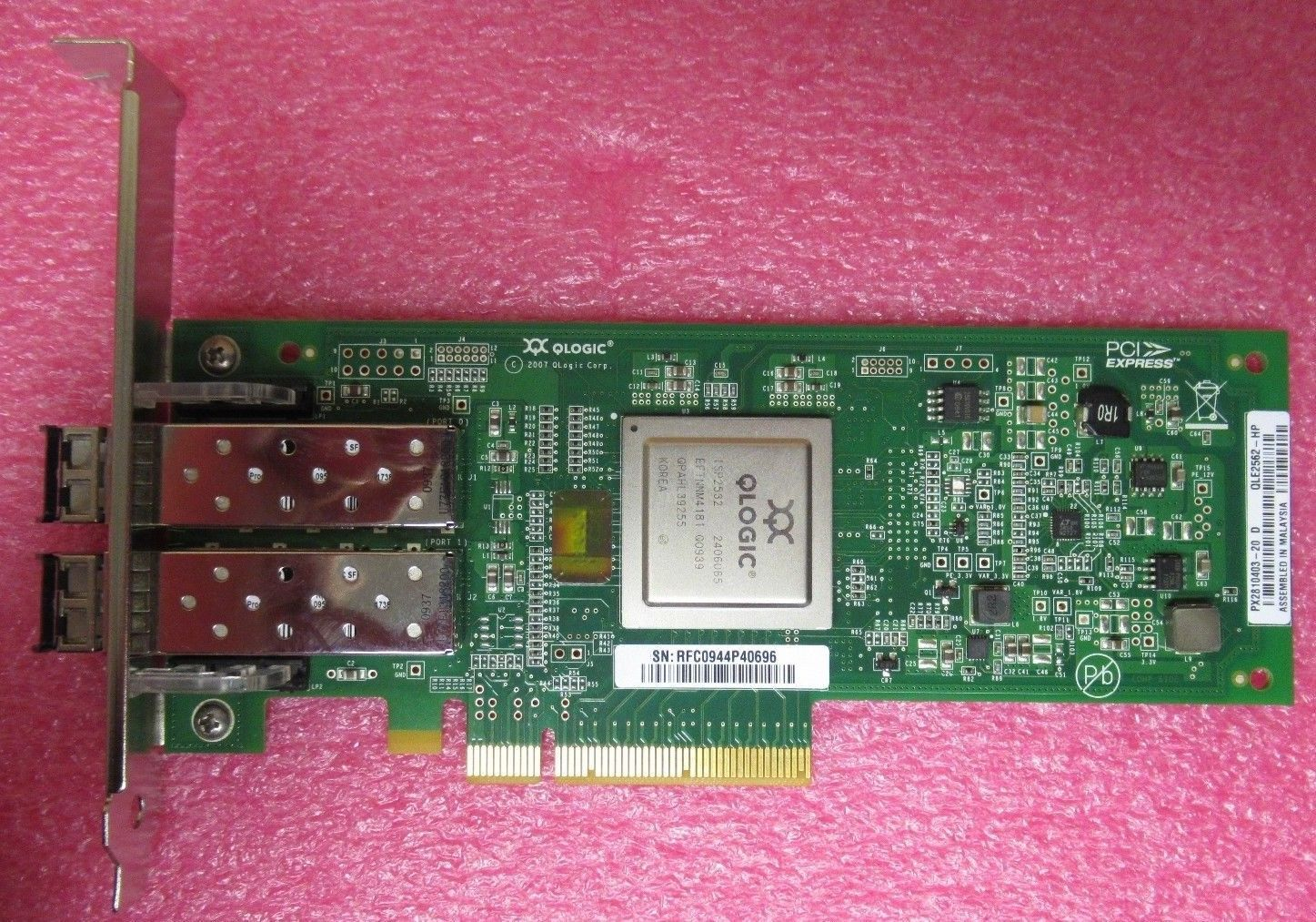 CISCO CAB-HD8-ASYNC= 001 HP-QLogic-Single-Port-4GB-Fibre-Channel-HBA-Card-QLE2460-HP-407620-001